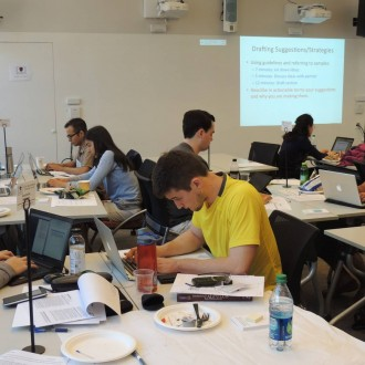 Students working hard at the Spring 2015 Hackademics! Image courtesy of the McGraw Center for Teaching and Learning. Used with permission.