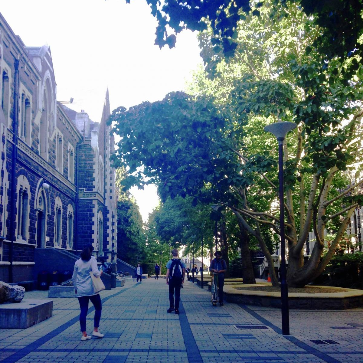 The walkway along one of Otago's oldest buildings, on my way to class this morning! Image by Vidushi Sharma.
