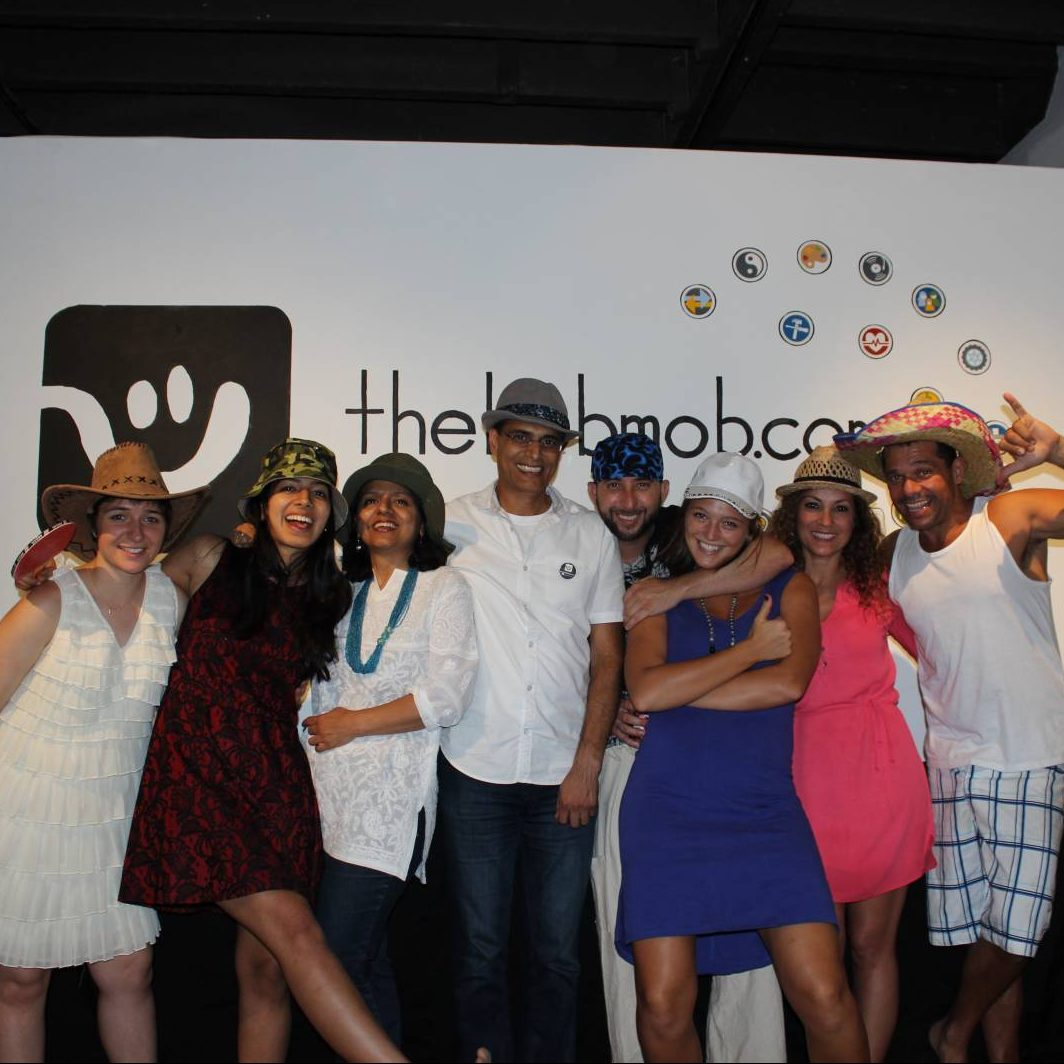 theHOBMOB team and friends at the event! Cid is on the far right.